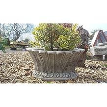 Maceta de piedra fabricada a mano para jardín