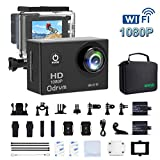 WIFI Underwater Action Camera HD 1080P Waterproof 30m 170° Wide-Angle with 2 Batteries and 19 Accessories for Drone, Kids, Bike, Motorcycle, Helmet, Cycling, Diving, Snorkelling, Extreme Sports