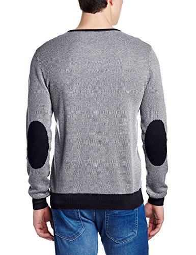 Gas Herren Sport-Sweatshirt Bianco (Navy Blue)
