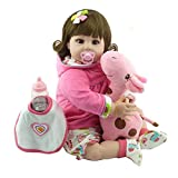 Yourig-in 55cm Fashion Silicone Cute Reborn Baby Doll Kids Playmate Gift Soft Toys