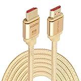HDMI Kabel, 10 m HDMI 2.0 Version 4 Karat 1080 P Aluminiumlegierung Shell Line Head Vergoldete Anschlüsse HDMI Stecker auf HDMI Stecker Audio Video Adapterkabel
