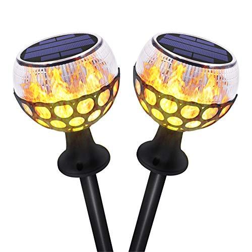 Solar Taschenlampen Tanzen Flamme Beleuchtung Led-Lampe Blinkt Wasserdicht Drahtlose Außenleuchte Für Patio - Pizzaofen Beleuchtung