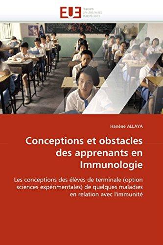 Conceptions et obstacles des apprenants en immunologie par Hanène ALLAYA