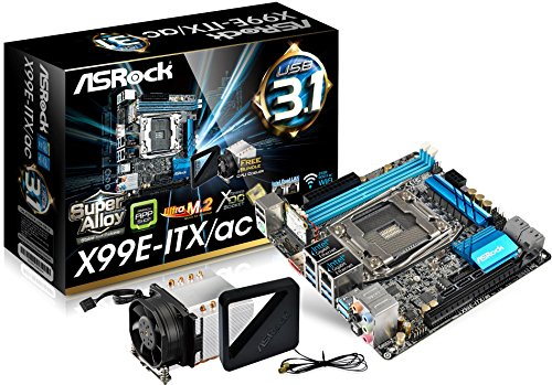 Asrock 2011 X99E-ITX/AC Scheda Madre, Nero