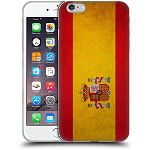 Head Case Designs Español De España Banderas Vintage Caso de Gel Suave para Apple iPhone 6 Plus / 6s Plus