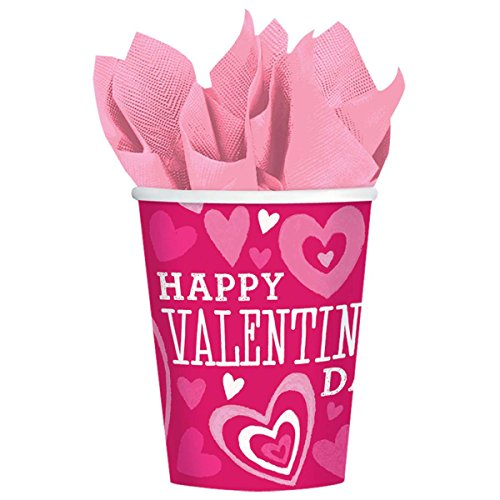 Amscan 7314481 Valentine's Day Paper Cups Party-Zubehör, Papier, ()