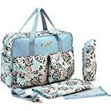 KF Baby Rox Diaper Bag Value Set, with Crossbody bag strap, Changing Pads, more