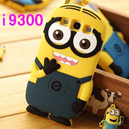 Double Eye Cute Despicable Me Minion Silicone Back Cover For Samsung Galaxy S3 I 9300  available at amazon for Rs.499