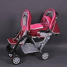 Tandem - Cochecito gemelos rosa - BambinoWorld