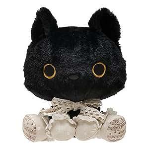 Petite peluche chat noir soyeux Kutusita Nyanko par San-X Japon