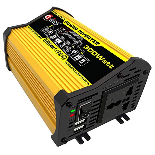 GUOXIN Convertisseur 12V 220V 300W Power Inverter Onduleur DC vers AC 220V 230V 240V Transformateur de Tension Adaptateur avec USB Chargeur Ports 5V/4.2A Voiture Allume Cigare