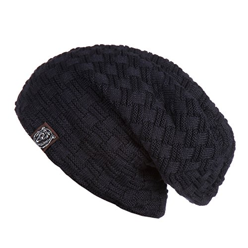 Winter Hats Beanie Knit Crochet Warm Skull Cap With Nap Cloth Black Friday(navy)