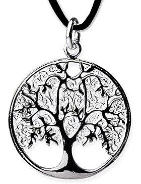 Anhänger Baum des Lebens Keltischer Bronze Schmuck - Heilung - Weltenbaum Lebensbaum mit Lederhalsband Schmucksäckchen...