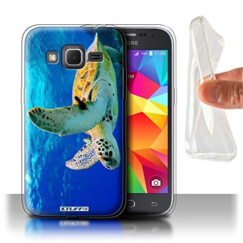 Stuff4® Gel TPU Hülle/Hülle für Samsung Galaxy Core Prime/Schildkröte Muster/Wilde Tiere Kollektion -