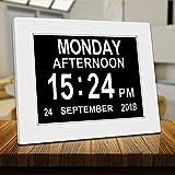 American Lifetime Digital Calendar Day Clock,Digital Memory Loss Day Clock with Digital Photo