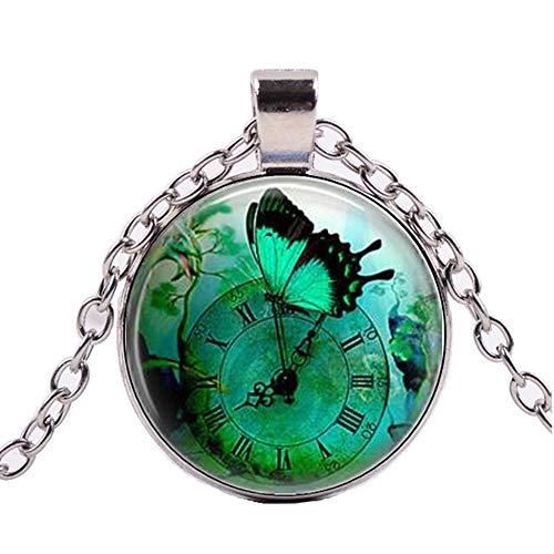 chmuck Steampunk Uhr Anhänger Uhr Quarz Halskette Dinosaurier Anhänger Steampunk ()
