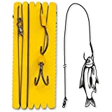 Black Cat #7/0,#4/0 Bouy and Boat Ghost Double Hook Rig XL 100kg 1Stück 1,40m,