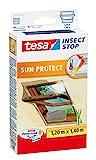 tesa Insect Stop SUN PROTECT Fliegengitter für Dachfenster - Insektenschutz mit Blend- & Sonnenschutz für Dach-Fenster - Fliegen Netz 120 cm x 140 cm