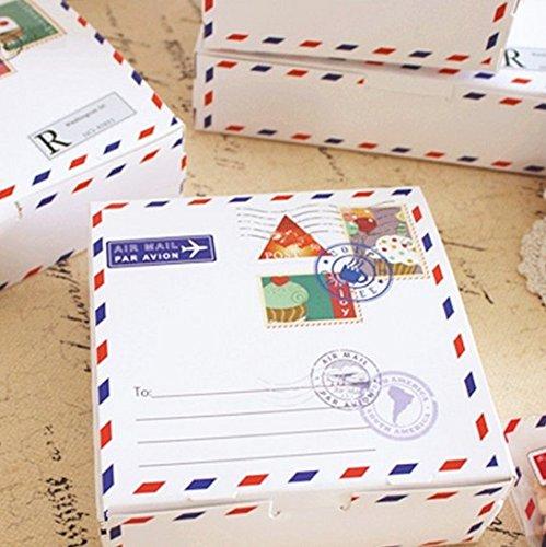 14 * 5 cm 10 stücke umschlag reise design Papier Box Cookie süßigkeiten Aufbewahrungsboxen geschenk verpackung Hochzeit Weihnachten Verwenden ()