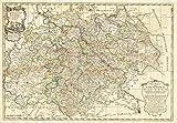 Postreisekarte [Postkutschenreisekarte] - Neue Karte des Kurfürstentums Sachsen, mit Thüringen und Anhalt 1758 - Petrus Schenk