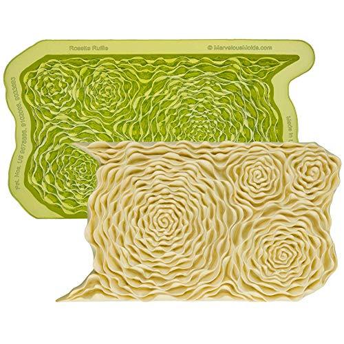 konform mit Rüschen, zum Dekorieren von Kuchen mit Fondant, Gumpaste ()