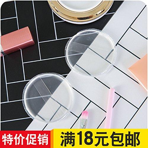 XXAICW Blätterteig transparentes Silikon Kissen Kissen Runde Make-up nicht essen den Pulver nass Gelee Ansturm auf Make-up Reinigung Werkzeuge -