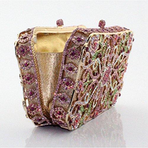 Mode Handtasche Luxus Abendtasche Frauen Gold Diamant SnYdqgSwa