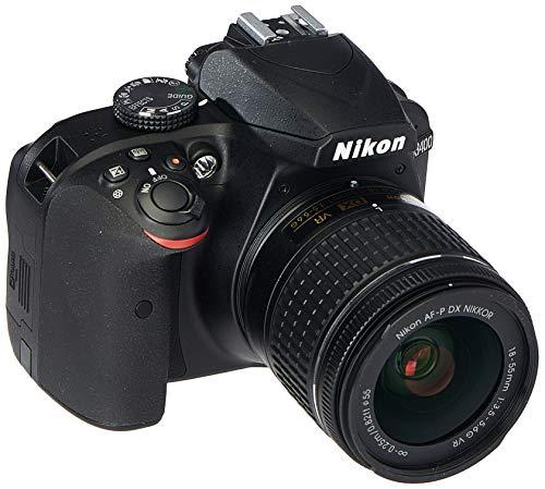 Renewed  Nikon D3400 24.2 MP Digital SLR Camera  Black  + AF P DX Nikkor 18 55mm f/3.5 5.6G VR Lens Kit + 16 GB Card + Camera Bag