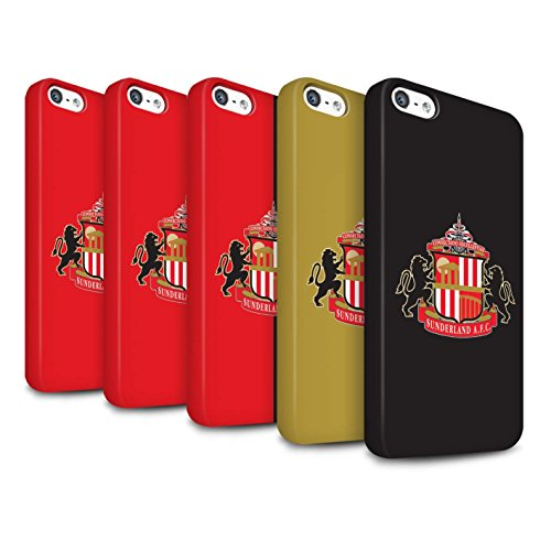 Offiziell Sunderland AFC Hülle / Matte Snap-On Case für Apple iPhone 5/5S / Pack 6pcs Muster / SAFC Fußball Crest Kollektion Pack 6pcs