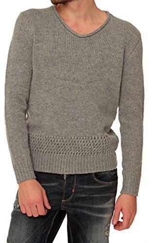 Antony Morato Herren Pullover Grobstrickpullover GUERRILLA, Farbe: Grau Grau