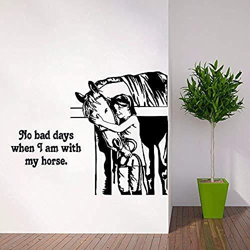 Wandaufkleber Kindergarten Pferd Zitat Wandtattoo Reiter Western Deisgn Dekoration Reiten Wandkunst Wand Fenster Wand Vinyl Poster @ 57x45 cm - Zitate Pferd Wandtattoos