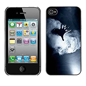 Omega Covers - Snap on Hard Back Case Cover Shell FOR Apple iPhone 4 / 4S - Fog Black White Deep Meaning