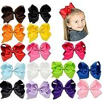 yhxx Ylen 20pcs 6en XL bebés y niñas lazos de pelo mujer Barrettes -  Multi color -