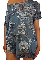 13 verschiedene Farben Damen Blusen mit Blumenmuster Größe 46 48 50 52 54