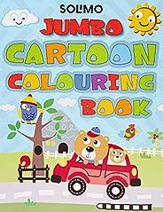 Amazon Brand - Solimo Blossom Jumbo Creative Colouring Book for Kids, Level 1
