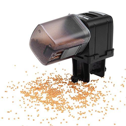 Petacc Alimentador Automático Acuario Multifuncional Comedero Peces Automático con Pantalla LCD y el Tiempo de Alimentación Configuración, Adecuado para Acuario, Tanque de Peces y Tortuga