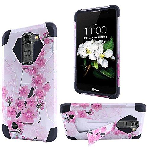 HRWireless Handy Case für LG K7-Retail Verpackung-Sakura Cherry Blossom Exotic Floral - Blau Otterbox-fälle Iphone 6