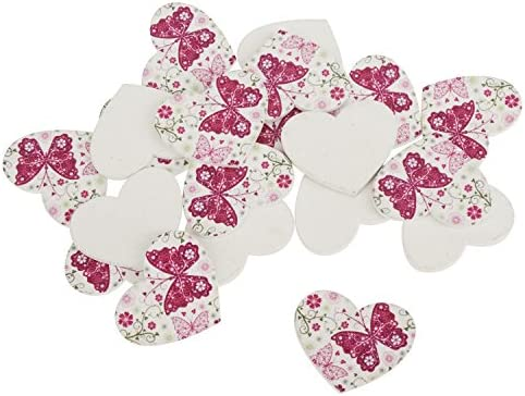 VBS Cœurs en Bois Romantic Butterfly », 20 pc. | Qualité Fine