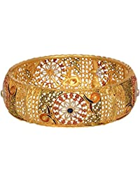 Aabhu Gold Plated Enamel Style Gold Plated Bangle Kada Set Jewellery For Women And Girl - B077Z7V5RK