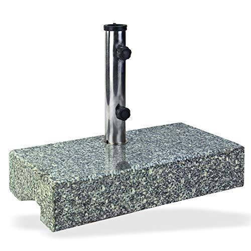DEMA Sonnenschirmständer halb 25 kg Granit