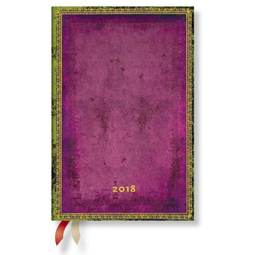 Paperblanks - Faux Leder Byzantium - Kalender 2018 Mini Wochenüberblick Horizontal - deutschsprachige Ausgabe