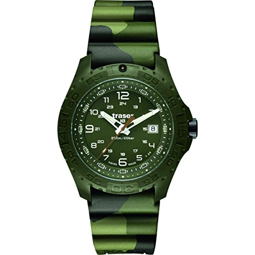 Traser H3Soldier Saphir Armbanduhr–Grün–Grün–Kautschuk