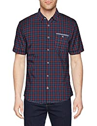 TOM TAILOR Ray Slub Check Package, Chemise Casual Homme
