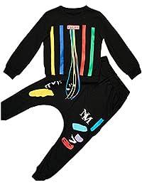 79e595059 Vividda Hiphop Ropa 2pcs Camisetas de manga larga + Pantalones para Niños  Otoño Invierno