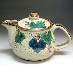 kutani keramik teekanne topf trauben mit teesieb japan import k che haushalt. Black Bedroom Furniture Sets. Home Design Ideas