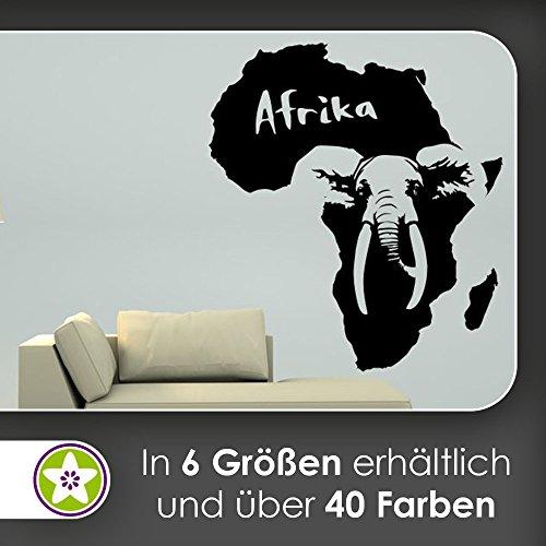 hauptsachebeklebt KIWISTAR Elefant u. Schriftzug Afrika Wandtattoo in 6 Größen - Wandaufkleber Wall Sticker