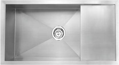 Carysil Quadro Single Bowl Drainer 36x18x8