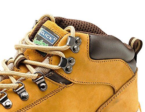 Click workwear Herren nubuck Leder leichte Arbeiten im chukka-Stiefel Hellbraun