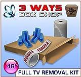 Armazón de pared para TV LCD de hasta 48 pulgadas con doble solapa/doble solapa, kit de protección para caja de arte
