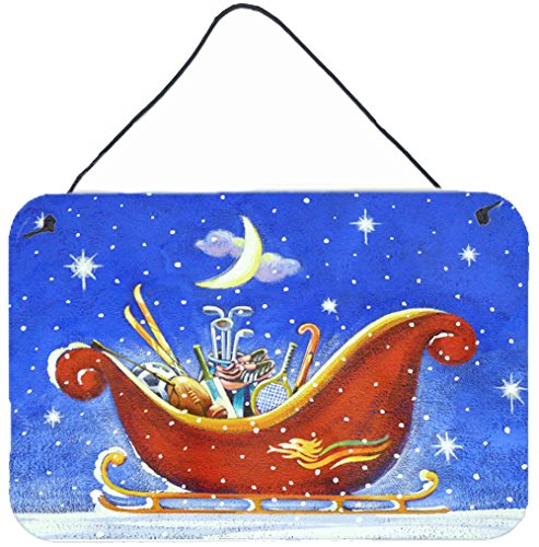 carolines-treasures-ara0143ds812-christmas-santas-sleigh-by-roy-avis-wall-or-door-hanging-prints-ara